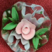 1940s to 1950s  Lucite  Floral  Vintage Brooch - Kaleidoscope Flower Pin